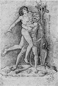 herkules und antaeus (after andrea mantegna) by giovanni antonio da brescia