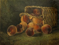 basket of peaches by william c. emerson