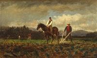 ploughing scene by samuel lancaster gerry