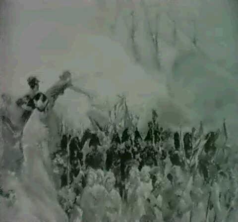 szene aus den napoleonischen kriegszugen im vordegrund offizier by louis dunki