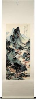 hanging scroll painting by zhang daqian