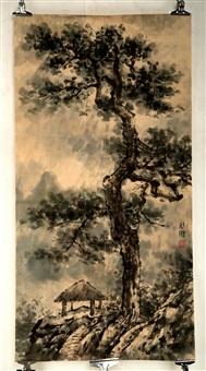 ink and color on paper hanging scroll painting by xu beihong