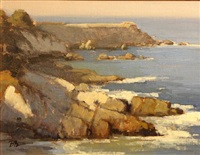 coastal rocks, pacific grove by brian blood