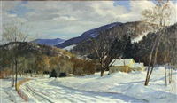 country home in winter by frank gervasi