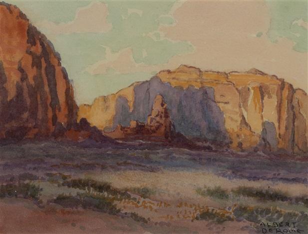 Sunset Monument Valley Arizona Near Utah By Albert Thomas Derome On Artnet