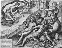 die unendliche belohnung der keuschheit (after frans floris) by cornelis cort