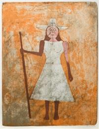la campesina, from mujeres by rufino tamayo