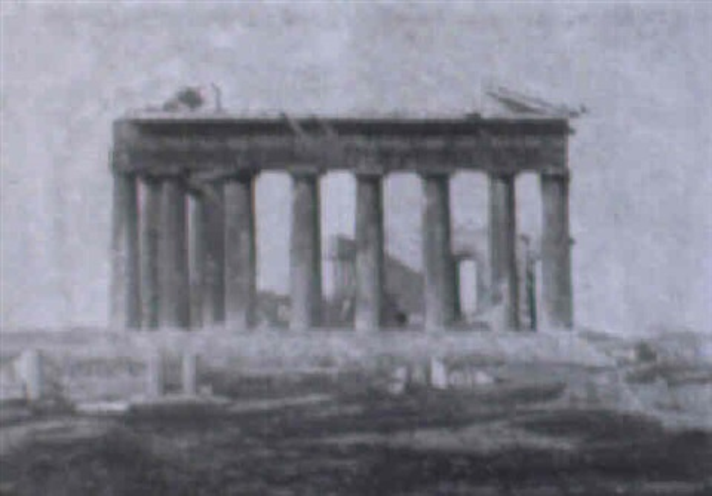 der parthenon auf der akropolis von athen by jean philippe edouard robert