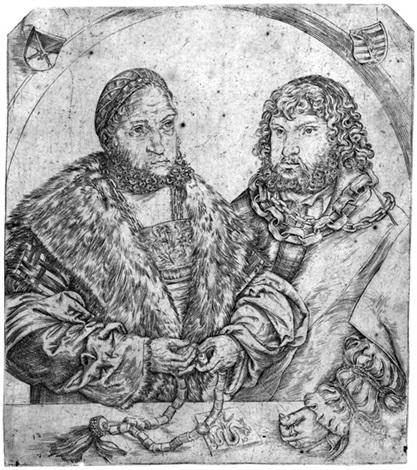 doppelbildnis friedrich der weise und johann der beständige herzöge von sachsen by lucas cranach the elder