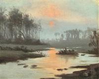 luminous sunset by john severinus conway