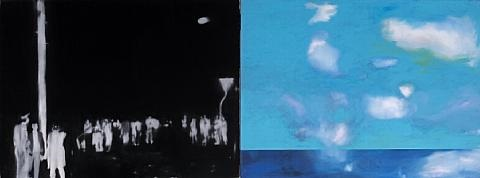 dark night blue sky in 2 parts by ryuta nakajima