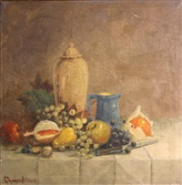 still life with fruit by george thompson pritchard
