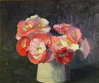 still life with pink and white flowers by margaret jordan patterson