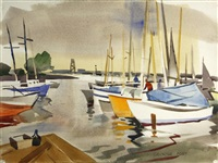 yacht harbor, redwood city by george booth post