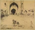 de groote moskee te delhi by marius bauer