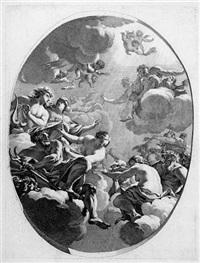 porticus bibliothecae illustriss. seguerii galliae cancellarii (portfolio of 6) by michel dorigny