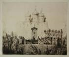 de kroning van czaar nicolaas ii. (the coronation of czar nicholas ii) by marius bauer