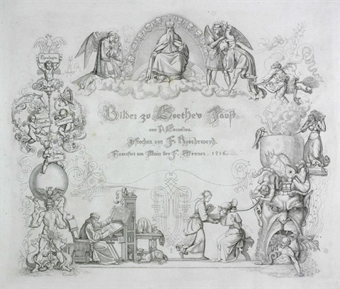 bilder zu goethes faust set of 12 by ferdinand ruschewey by peter von cornelius