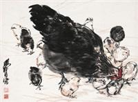 教子图 by huang zhou