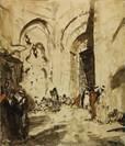 oriental streetscene by marius bauer