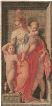 caritas (+ 3 others; set of 4 after andrea de sarto) by dietrich cruger