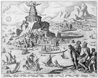 die acht weltwunder (die sieben weltwunder und das kolosseum in rom) (8 works by philips galle) by maerten jacobsz van heemskerck