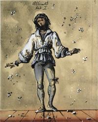 giselle, albrecht, act i, 1946; giselle, act 2, 1946 (2 works) by eugene berman