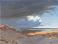 storm clouds over the marsh by george w. picknell