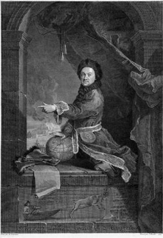 bildnis des pierre louis moreau de maupertius by jean daulle