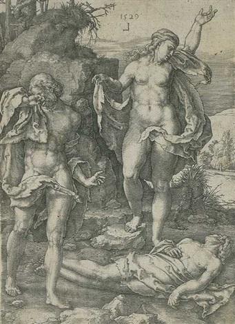 adam und eva beweinen den tod abels by lucas van leyden