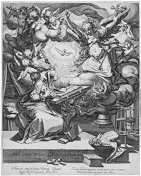 die verkündigung (after abraham bloemaert) by jacques de gheyn ii