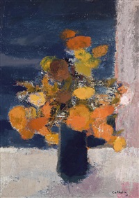 bouquet à manzanilla (mexique) printemps, 1967 by bernard cathelin