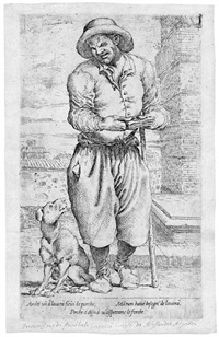 blinder bettler mit seinem hund (after annibale carracci) by pietro faccini