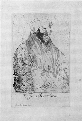 das bildnis des erasmus von rotterdam from icones principum virorum by sir anthony van dyck