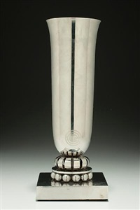 normandie vase (for the deluxe staterooms) by edgar brandt and georges bastard