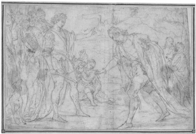 szene aus der antiken geschichte ein edelmann vor einem römischen feldherrn by giuseppe diamantini