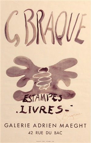 estampes livres galerie adrien maeght by georges braque
