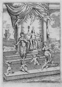 allegorie mit justitia, merkur und minerva by antonio crespi
