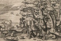 mythologische szenen in landschaft (set of 6) by jan sadeler i