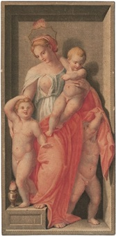 caritas (+ 3 others; 4 works after andrea de sarto) by dietrich cruger