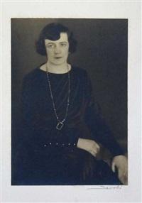 porträt einer dame by lotte jacobi