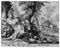 terra (from die vier elemente after karel van mander) by jacques de gheyn ii