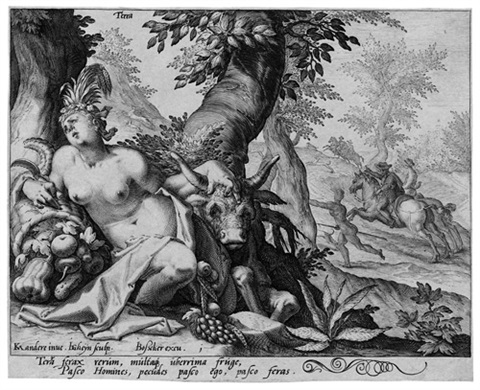terra from die vier elemente after karel van mander by jacques de gheyn ii