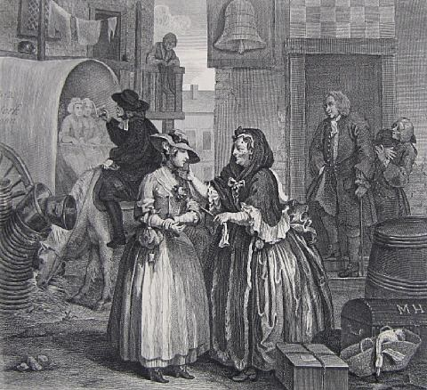 a harlots progress set of 6 by william hogarth