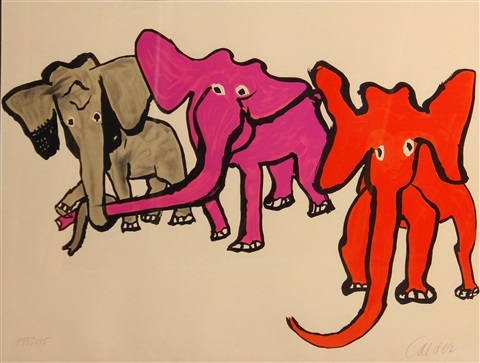 elephants from our unfinished revolution by alexander calder