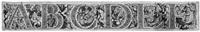 die buchstaben des alphabets, von grotesken gestalten gerahmt (4 works) by anonymous-italian (16)
