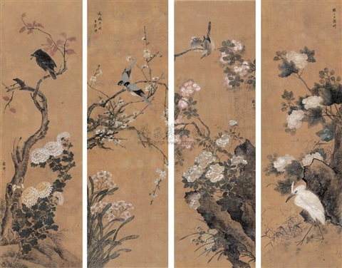 untitled 4 works by wang guxiang