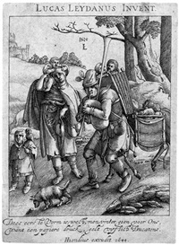 eulenspiegel (after lucas van leyden) by hendrik hondius the elder