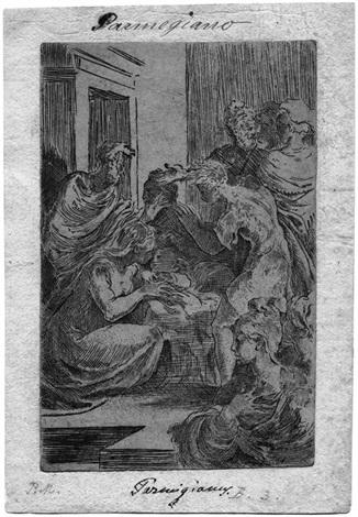 die geburt christi by parmigianino