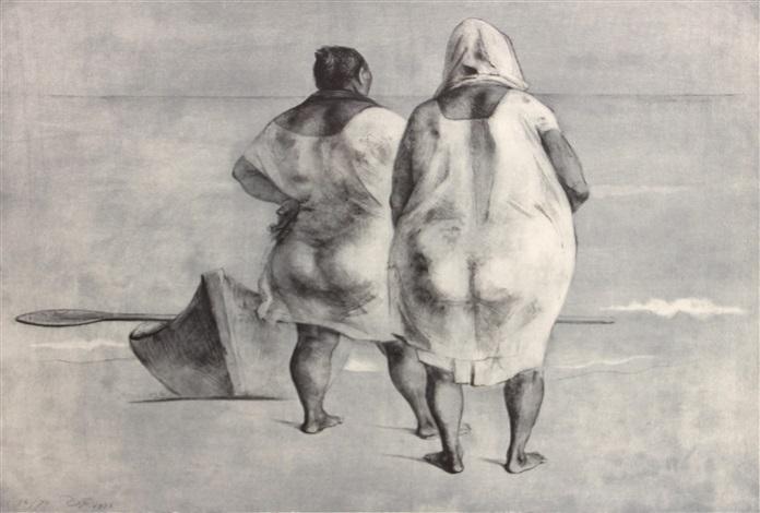 mujeres frente al mar by francisco zúñiga